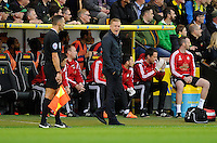 Swansea City Manager Garry Monk during the Barclays Premier League match between Norwich City and Swansea City played at Carrow Road, Norwich on November 7th 2015
