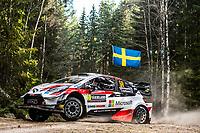 13th February 2020, Torsby base and Karlstad, Värmland County, Sweden; WRC Rally of Sweden, Shakedown event;  Kalle Rovanpera (FIN) - Jonne Halttunen (FIN) - Toyota Yaris WRC