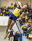 The University of Michigan men's gymnastics team beat No. 2 Stanford, 439.750-429.350, at Cliff Keen Arena in Ann Arbor, Mich., on January 26, 2013.
