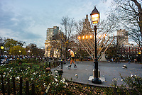 New York, NY - 12 December 2015 Chanukkah memorah in Washington Square Park
