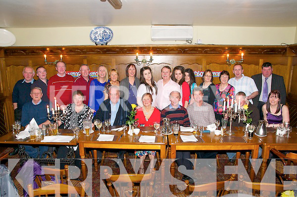 60th Birthday : Mike Buckley, Lisroe, Duagh, seventh from right standing, celebrating his 60th birthday with family & friends at Leen's Hotel, Abbeyfeale on Saturday night last.