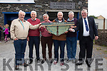 Five of the six remaining 1969 crew of the Liberator, pictured here at the Cahersiveen Regatta on Sunday l-r; Tommy Sugrue(4th Oar), John O'Connor(Bow Oar), Donal O'Sullivan(5th Oar), Donie O'Connell son of Sean O'Connell the Liberators Cox, Patrick Golden(6th Oar) & Mike O'Shea(2nd Oar), missing Mike Hussey.