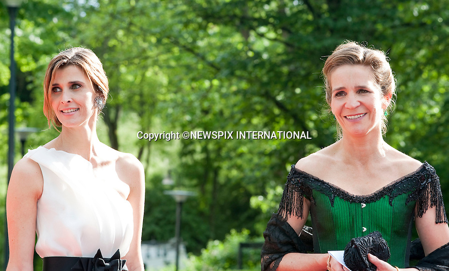 "INFANTA DONA ELENA DE BORBON and PRINCESS ROSARIO.Pre-Wedding Dinner hosted by the Government of Sweden in honour of H.R.H Crown Princess Victoria and Mr Daniel Westling at Eric Ericsonhallen was attended by Royalty from all over the world. Stockholm_18/06/2010..Mandatory Photo Credit: ©Dias/Newspix International..**ALL FEES PAYABLE TO: ""NEWSPIX INTERNATIONAL""**..PHOTO CREDIT MANDATORY!!: NEWSPIX INTERNATIONAL(Failure to credit will incur a surcharge of 100% of reproduction fees)..IMMEDIATE CONFIRMATION OF USAGE REQUIRED:.Newspix International, 31 Chinnery Hill, Bishop's Stortford, ENGLAND CM23 3PS.Tel:+441279 324672  ; Fax: +441279656877.Mobile:  0777568 1153.e-mail: info@newspixinternational.co.uk"