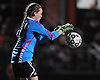 Wantagh goalie Julianna King secures a ball during a Nassau County varsity girls' soccer Class A semifinal against South Side at Cold Spring Harbor High School on Friday, October 30, 2015.<br /> <br /> James Escher