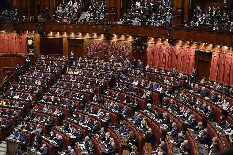 Roma, 15 Marzo 2013.Montecitorio, Camera dei Deputati.Primo giorno in Aula della XVII Legislatura del Parlamento italiano