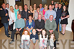 Michael Carey, Gortdrumakerrie, Muckross, Killarney, pictured with his family as he celebrated his 70th birthday in the Killarney Oaks hotel on Saturday night.