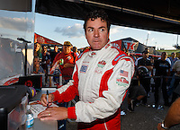 Sep 2, 2016; Clermont, IN, USA; Papa Johns pizza founder John Schnatter  during NHRA qualifying for the US Nationals at Lucas Oil Raceway. Mandatory Credit: Mark J. Rebilas-USA TODAY Sports