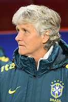 20200304 Valenciennes , France :  Brazilian head coach Pia Sundhage pictured during the female football game between the national teams of The Netherlands and Brasil on the first matchday of the Tournoi de France 2020 , a prestigious friendly womensoccer tournament in Northern France , on wednesday 4 th March 2020 in the Stade du Hainaut of Valenciennes , France . PHOTO SPORTPIX.BE | DIRK VUYLSTEKE