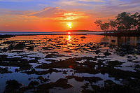 The sun sets over the Florida Everglades and the 10,000 islands out of Chokoloskee Island. Photo/Andrew Shurtleff