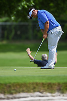 Kiradech Aphibarnrat (THA) watches his putt on 6 during round 1 of the 2019 Charles Schwab Challenge, Colonial Country Club, Ft. Worth, Texas,  USA. 5/23/2019.<br /> Picture: Golffile | Ken Murray<br /> <br /> All photo usage must carry mandatory copyright credit (© Golffile | Ken Murray)