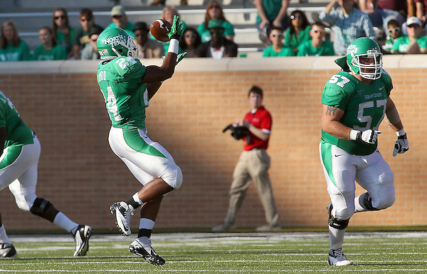 Denton, TX - NOVEMBER 3: Brandin Byrd #24 running back make a reception against the Arkansas State Red Wolves of the North Texas Mean Green at Apogee Stadium in Denton on November 3, 2012 in Denton, Texas. Photo by: Rick Yeatts
