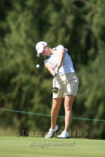 February 16, 2006 - Kahuku, HI - Emily Bastel tees off during Round 1 of the LPGA SBS Open at Turtle Bay Resort...Photo: Darrell Miho