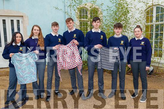 Pobalscoil Inbhear Scéine Kenmare students are recycling clothes from left: Maria Viehmann, Robyn Mayhew, Jimmy Lehane, John McCarthy, Kevin O Shea, Eoin O Shea, Aishling Rochford.