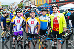 Thomas O'Mahony, Terence Culloty, Ross Culloty and Denis Culloty, all from Tralee, pictured at the Ring of Beara Cycle in Kenmare on Saturday morning last.