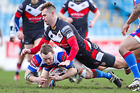 Picture by Alex Whitehead/SWpix.com - 17/03/2018 - Rugby League - Ladbrokes Challenge Cup: Round 4 - Normanton Knights v Rochdale Hornets - The LD Nutrition Stadium, Featherstone, England.