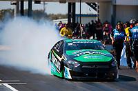 Oct 20, 2019; Ennis, TX, USA; NHRA pro stock driver Richie Stevens during the Fall Nationals at the Texas Motorplex. Mandatory Credit: Mark J. Rebilas-USA TODAY Sports