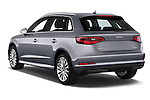 Car pictures of rear three quarter view of2015 Audi A3 Ambiente 5 Door Hatchback 2WD Angular Rear