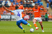 Blackpool's Jay Spearing battles with Portsmouth's Danny Rose<br /> <br /> Photographer Alex Dodd/CameraSport<br /> <br /> The EFL Sky Bet League One - Blackpool v Portsmouth - Saturday August 11th 2018 - Bloomfield Road - Blackpool<br /> <br /> World Copyright &copy; 2018 CameraSport. All rights reserved. 43 Linden Ave. Countesthorpe. Leicester. England. LE8 5PG - Tel: +44 (0) 116 277 4147 - admin@camerasport.com - www.camerasport.com