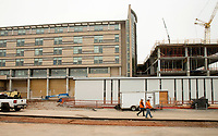 NWA Democrat-Gazette/BEN GOFF @NWABENGOFF<br /> A view of the new tower under construction Wednesday, Feb. 21, 2018, at Mercy Hospital Northwest Arkansas in Rogers.