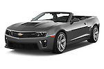 2014 Chevrolet Camaro ZL1 2 Door Convertible Angular Front stock photos of front three quarter view
