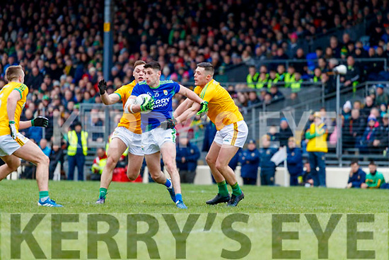 Paul Geaney, Kerry in action against Robin Clarke, Meath during the Allianz Football League Division 1 Round 4 match between Kerry and Meath at Fitzgerald Stadium in Killarney, on Sunday.