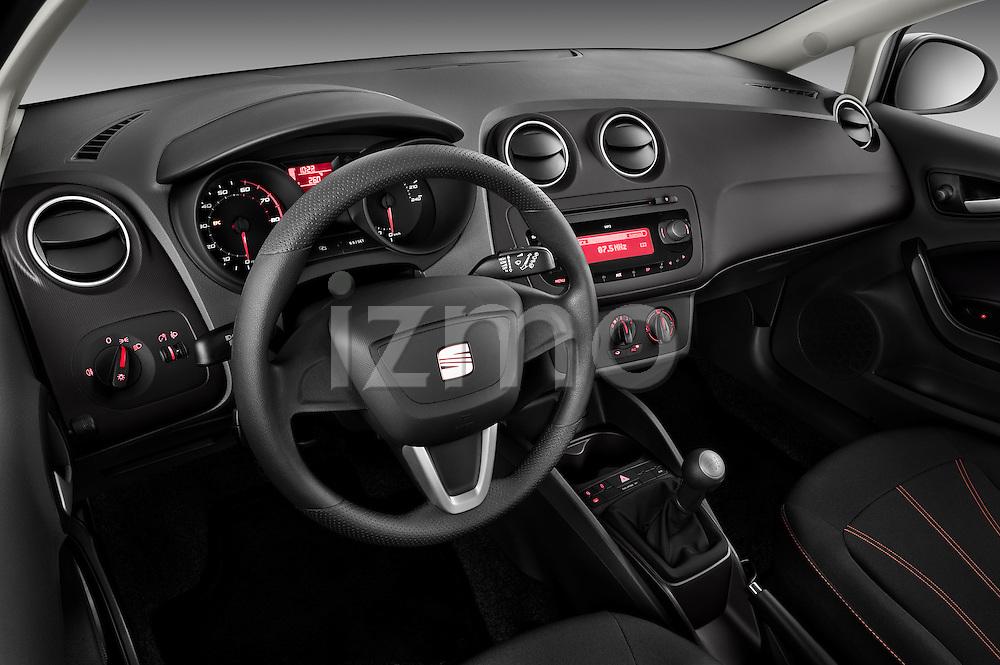 High angle dashboard view of 2010 Seat Ibiza ST 5 Door Wagon Stock Photo