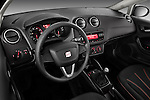 High angle dashboard view of 2010 Seat Ibiza ST 5 Door Wagon Stock Photo
