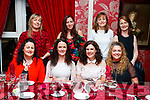 Enjoying a friends night out in Cassidy's restaurant, Tralee on Friday night last were l-r: Jactina Bradley, Caroline Shanahan, Siobhan McSweeney and Olga Enright. Back l-r: Noelle West, Maria Browne, Mary Walsh and Nora Curran.