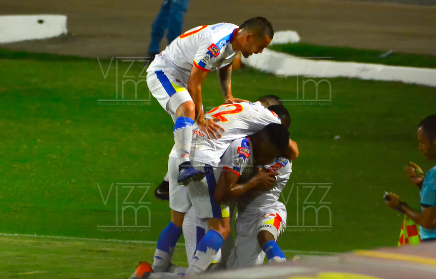 CÚCUTA- COLOMBIA, 03-04-2019:Mairon Quinones jugador del Deportivo Pasto celebra después de anotar un gol al Cúcuta Deportivo durante partido por la fecha 13 de la Liga Águila I  2019 jugado en el estadio General Santander de la ciudad de Cúcuta . /Ederson Moreno player of Deportivo Pasto celebrates after scoring the goal agaisnt of Cucuta Deportivo  during the match for the date 13 of the Liga Aguila I 2019 played at the General Santander  stadium in Cucuta  city. Photo: VizzorImage / Edgar Cusguen / Contribuidor