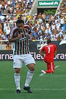 RIO DE JANEIRO, RJ, 26 DE FEVEREIRO 2012 - CAMPEONATO CARIOCA - FINAL - TACA GUANABARA - VASCO X FLUMINENSE - Fred, jogador do Fluminense, comemora o seu segundo gol, o terceiro do time, durante partida contra o Vasco, pela final da Taca Guanabara, no estadio Engenhao, na cidade do Rio de Janeiro, neste domingo, 26. FOTO: BRUNO TURANO – BRAZIL PHOTO PRESS