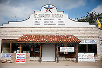 The Yellow Rose gift shop and Bush memorabilia store still advertises despite being closed for business in Crawford, Texas, US, Wednesday, April 14, 2010. Crawford has only one remaining gift shop since President George W. Bush has left office...PHOTO/ MATT NAGER