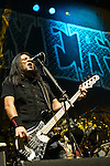 Bob Zilla of Hellyeah performs at the Rock Vegas Music Festival at Mandalay Bay in Las Vegas, Nevada.