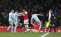 Tempers flare between Leeds United's Kalvin Phillips, Jack Harrison, Barry Douglas and Arsenal's Joe Willock and Sokratis Papastathopoulos<br /> <br /> Photographer Rob Newell/CameraSport<br /> <br /> Emirates FA Cup Third Round - Arsenal v Leeds United - Monday 6th January 2020 - The Emirates Stadium - London<br />  <br /> World Copyright © 2020 CameraSport. All rights reserved. 43 Linden Ave. Countesthorpe. Leicester. England. LE8 5PG - Tel: +44 (0) 116 277 4147 - admin@camerasport.com - www.camerasport.com