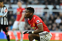 Paul Pogba of Manchester United during Newcastle United vs Manchester United, Premier League Football at St. James' Park on 11th February 2018