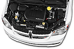 Car Stock 2018 Dodge Grand-Caravan SXT 5 Door Minivan Engine  high angle detail view