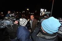 SCHAATSEN: ST. NICOLAASGA: Bijeenkomst Rayonhoofden Vereniging Friesche Elfsteden, 05-02-2012, Jan van der Woude, rayon IJlst, ©foto: Martin de Jong