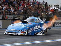 Jul 21, 2017; Morrison, CO, USA; NHRA funny car driver John Force during qualifying for the Mile High Nationals at Bandimere Speedway. Mandatory Credit: Mark J. Rebilas-USA TODAY Sports