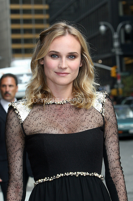 WWW.ACEPIXS.COM . . . . . ....August 18 2009, New York City....Actress Diane Kruger made an appearance at the 'Late Show with David Letterman' on August 18 2009 in New York City....Please byline: NANCY RIVERA - ACEPIXS.COM.. . . . . . ..Ace Pictures, Inc:  ..tel: (212) 243 8787 or (646) 769 0430..e-mail: info@acepixs.com..web: http://www.acepixs.com