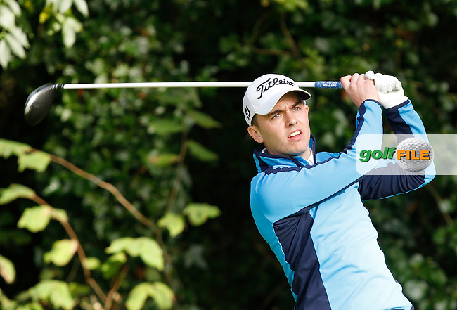 Graham Callaghan (Hollywood Lakes Golf Club) on the 9th tee during Round 1 of the 104th Irish PGA Championship at Adare Manor Golf Club on Thursday 2nd October 2014.<br /> Picture:  Thos Caffrey / www.golffile.ie