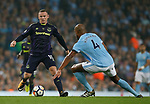 Wayne Rooney of Everton and Vincent Kompany of Manchester City during the Premier League match at the Eithad Stadium, Manchester. Picture date 21st August 2017. Picture credit should read: Simon Bellis/Sportimage