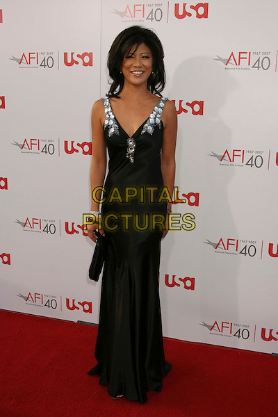 JULIE CHEN.35th AFI Life Achievement Award Honoring Al Pacino held at the Kodak Theatre, Hollywood, California, USA..June 7th, 2007.full length black beads jewel encrusted dress.CAP/ADM/RE.©Russ Elliot/AdMedia/Capital Pictures