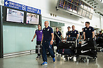 Aston Villa arrive to the Hong Kong International Airport ahead the HKFC Citibank Soccer Sevens 2014 on May 21, 2014 in Hong Kong, China. Photo by Aitor Alcalde / Power Sport Images