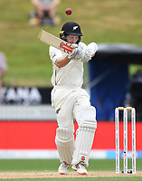 3rd December, Hamilton, New Zealand;  Kane Williamson is hit on the helmet during play day 5 of the 2nd test cricket match between New Zealand and England at Seddon Park, Hamilton, New Zealand.
