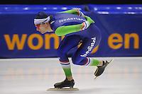 SCHAATSEN: HEERENVEEN: 11-12-2014, IJsstadion Thialf, International Speedskating training, Thomas Krol, ©foto Martin de Jong