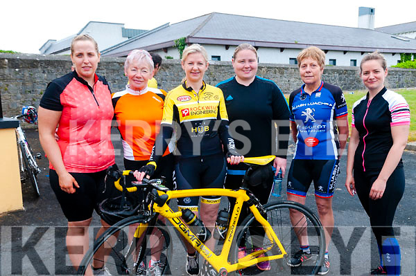 Kerry Crusaders Cycling Club Scenic Challenge: Pictured prior to the start of the Kerry Crusaders Cycling Club Challenge at Listowel Emmetts GAA grounds were Mairead O'Connor, Cathriona O'Sullivan, Marie Field, Mary O'Brien, Hannah O'Connor & Anne Maria Nash.
