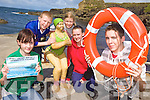 SAFETY: Promoting the upcoming water safety course at Meenagohane Pier in Causeway on Friday last were, front l-r: Christine Meehan, Brian Meehan. Back l-r: Cormac Leen, Sinead Leen, Katie Casey.