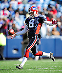 11 October 2009: Buffalo Bills' punter Brian Moorman warms up prior to facing the Cleveland Browns at Ralph Wilson Stadium in Orchard Park, New York. The Browns defeated the Bills 6-3 for Cleveland's first win of the season...Mandatory Photo Credit: Ed Wolfstein Photo