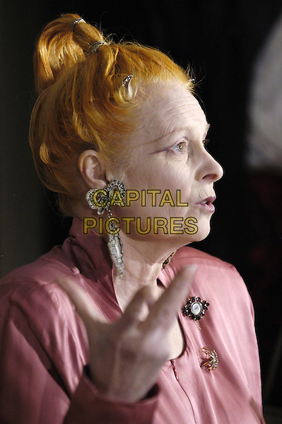 VIVIENNE WESTWOOD.The Victoria & Albert ( V&A ) Museum launches a major exhibition of the work of Vivienne Westwood, one of the most influential fashion designers of the last 30 years..30 March 2004.headshot, portrait .www.capitalpictures.com.sales@capitalpictures.com.©Capital Pictures
