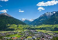 Austria, Salzburger Land, Pinzgau, Mittersill: town at river Salzach with Hohe Tauern mountains | Oesterreich, Salzburger Land, Pinzgau, Stadt Mittersill an der Salzach vor den Hohen Tauern