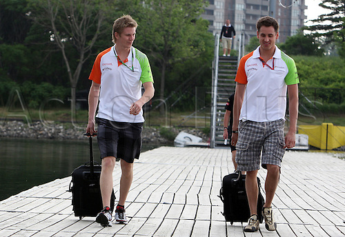 06.10.2011, Montreal, Canada. Formula 1 Grand Prix.   Nico Huelkenberg, Adrian Sutil, Team Force India, ..